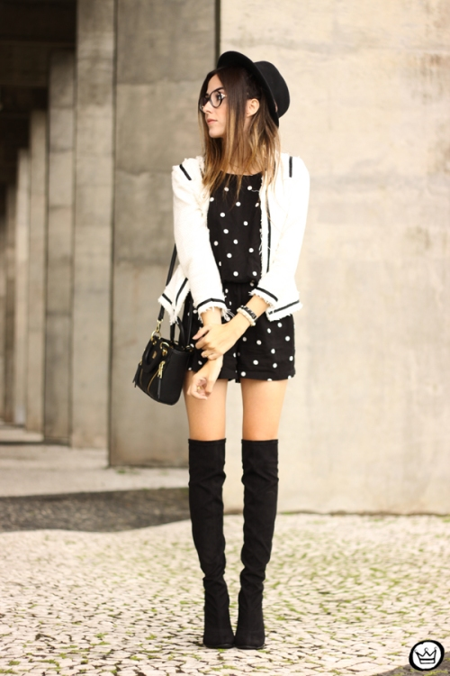 FashionCoolture - 07.04.2015 look du jour Dafiti polka dots black and white outfit (3)