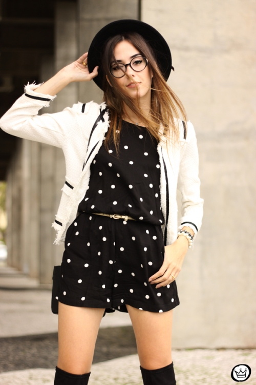 FashionCoolture - 07.04.2015 look du jour Dafiti polka dots black and white outfit (4)