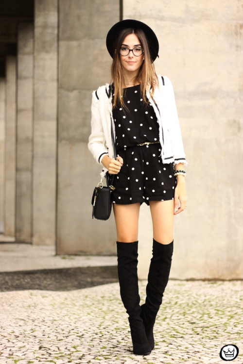FashionCoolture - 07.04.2015 look du jour Dafiti polka dots black and white outfit (5)