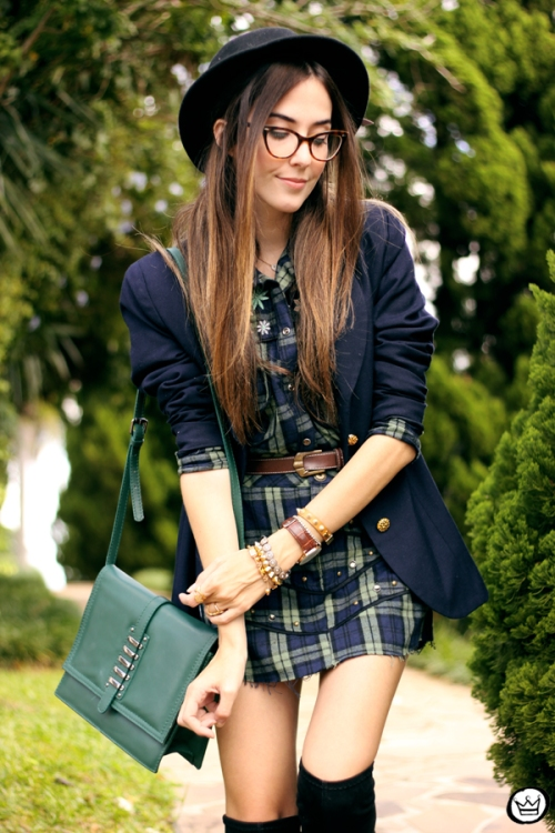 FashionCoolture - 09.04.2015 look du jour Mondabelle plaid navy blue (2)