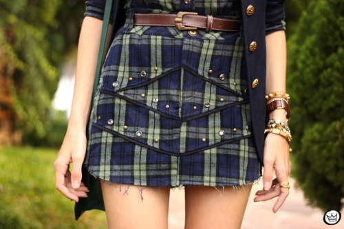 FashionCoolture - 09.04.2015 look du jour Mondabelle plaid navy blue (5)