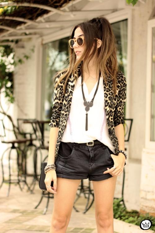 FashionCoolture - 13.04.2015 look du jour Shoulder leopard print blazer (2)