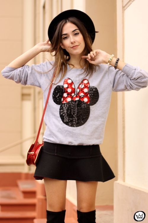 FashionCoolture - 15.04.2015 look du jour Minnie jumper sequined Ohkei (2)