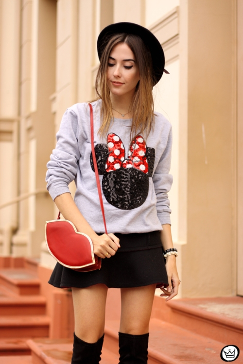 FashionCoolture - 15.04.2015 look du jour Minnie jumper sequined Ohkei (5)