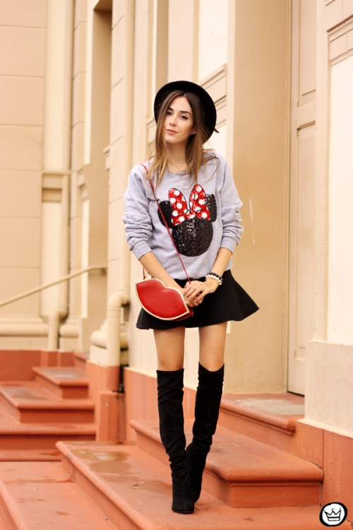 FashionCoolture - 15.04.2015 look du jour Minnie jumper sequined Ohkei (6)