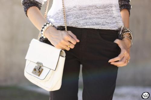 FashionCoolture - 17.04.2015 look du jour Lunender black flare striped jumper (4)