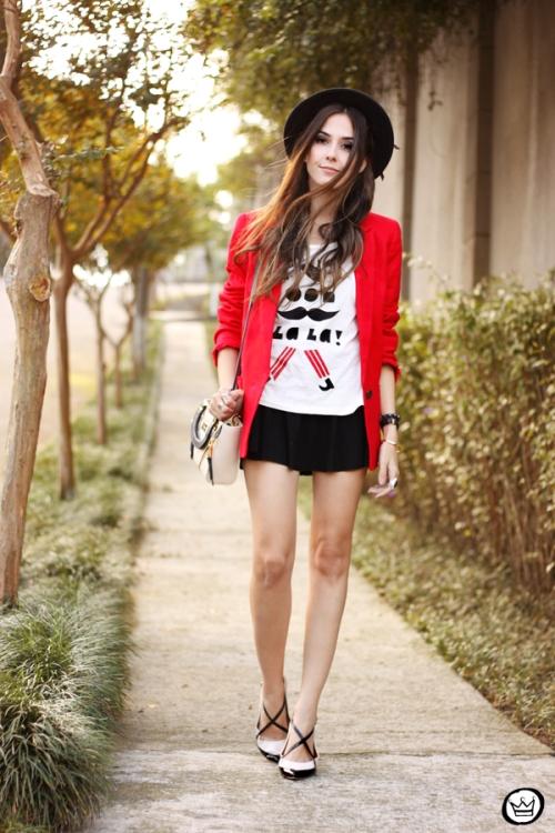 FashionCoolture - 06.05.2015 look du jour Dafiti red blazer (1)
