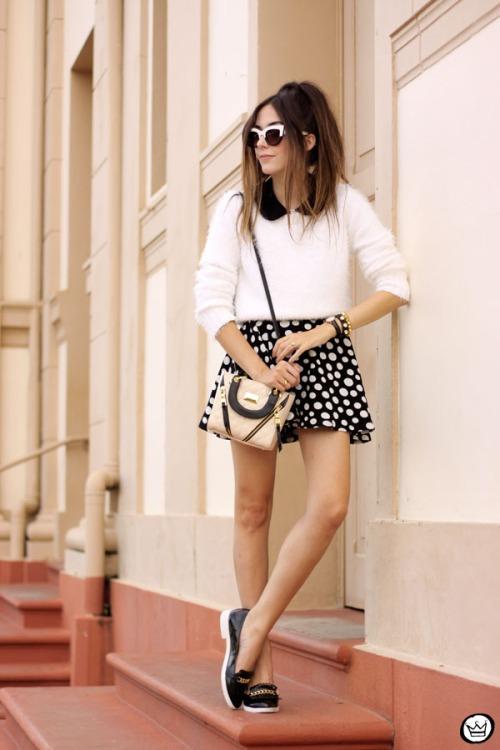 FashionCoolture - 11.05.2015 look du jour Lilly's Closet SlyWear saia de bolinhas (1)