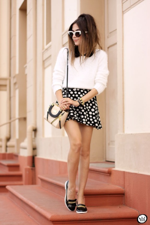 FashionCoolture - 11.05.2015 look du jour Lilly's Closet SlyWear saia de bolinhas (7)
