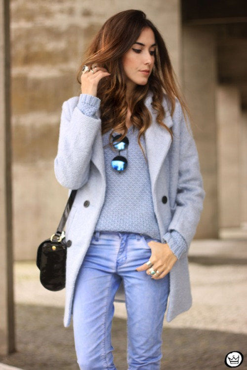 FashionCoolture - 13.05.2015 look du jour baby blue coat winter Gap monochromatic outfit (2)